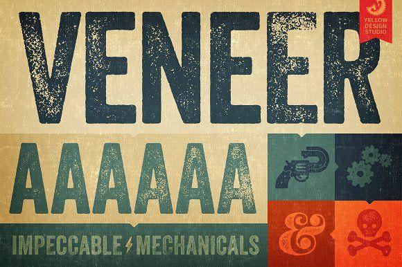 Veneer Font Family by Yellow Design Studio on @creativemarket