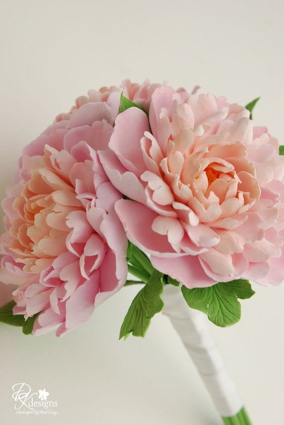 Made to Order 3 Peony Bridal Bouquet You by dkdesignshawaii, $175.00