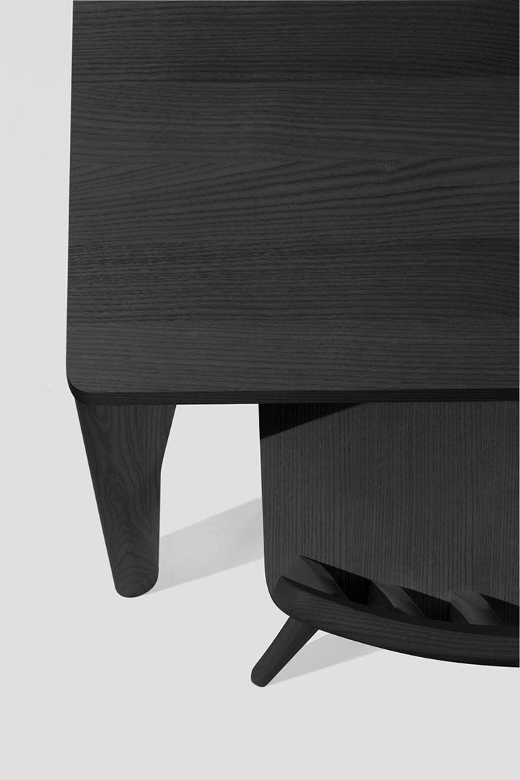Sipa tavolo Fold in frassino colore nero per interno
