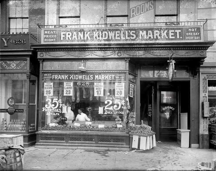 Shorpy Historical Photo Archive Meat Market 1920