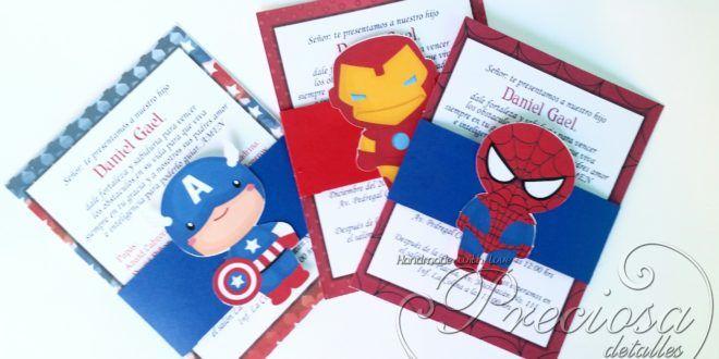 Invitaciones Infantiles Superheroes