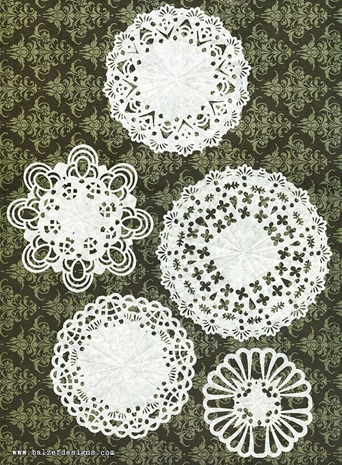 DIY Doilies - Use punches to cut out the designs in folded paper.