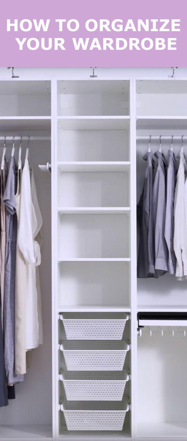 25 best ideas about wardrobe organiser on pinterest dreams wardrobes smal - Dimension dressing ikea ...