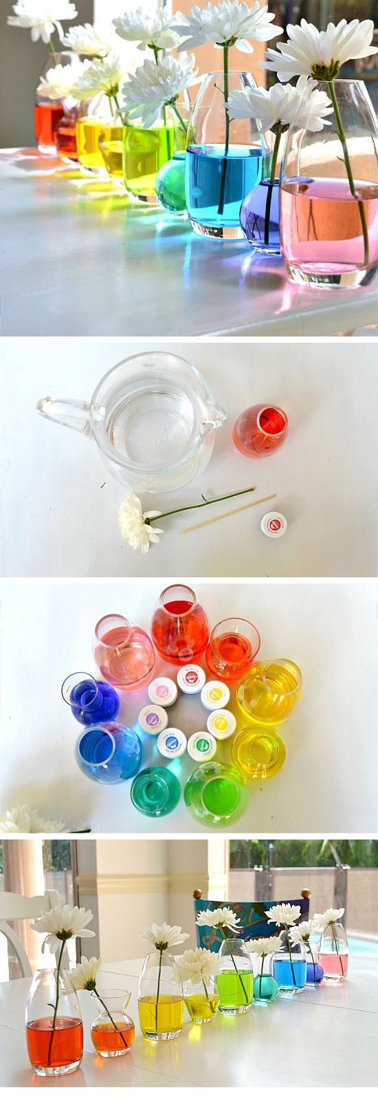Rainbow Flower Centerpiece | DIY Spring Decorations for the Home