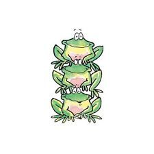 Penny Black Rubber Stamps Stamp ITS A CIRCUS Frogs Stack Up
