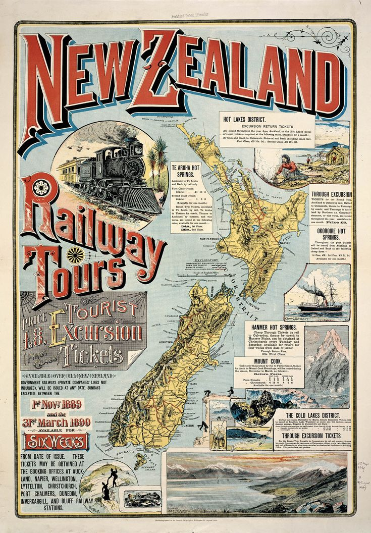 New Zealand Railways 1889. Auckland to Helensville railway line through Waitakerei (now Waitakere) Read a list of all NZ railway stations, when they opened and closed at http://www.railheritage.org.nz/assets/dates_and_names.pdf