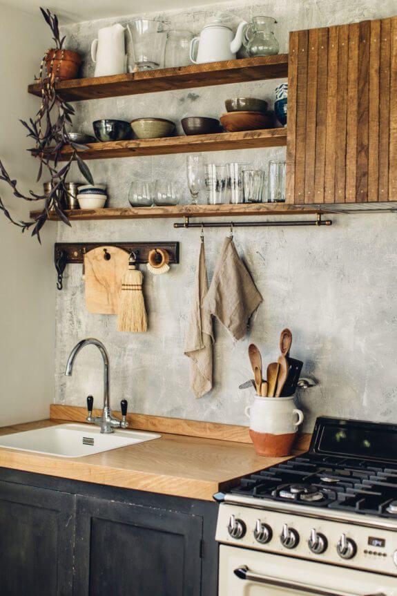18 Stilvolle und funktionale offene Küchenregalideen, um mehr Platz zu sparen