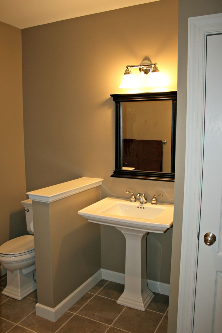 85 best images about basement bathroom on pinterest for Finished bathroom ideas
