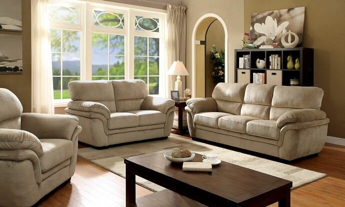 Super Soft Living Room Set Available In Light Or Dark Brown Microfiber.  This Living Room Furniture Includes Sofa Only. Love Seat Or Chair Available  At An ...