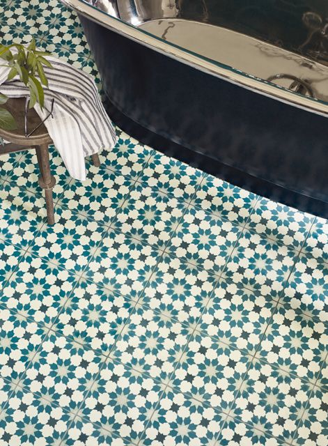 Madeira Amparo with Babylon Matt Charcoal bath http://www.firedearth.com/tiles/range/madeira/mode/grid