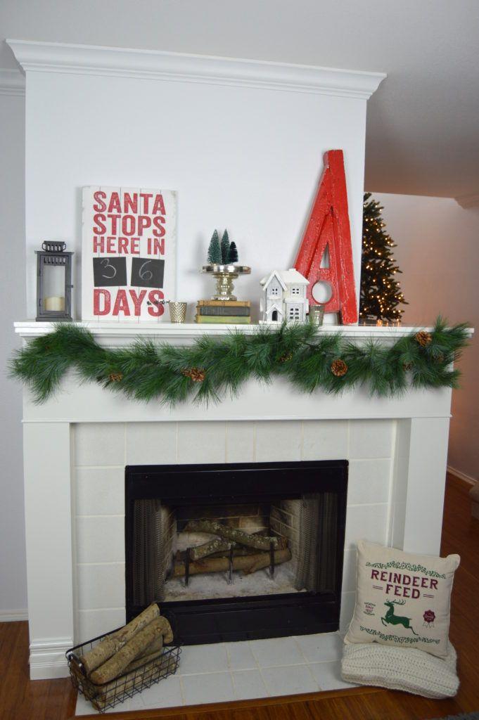 Farmhouse Inspired Christmas Mantel
