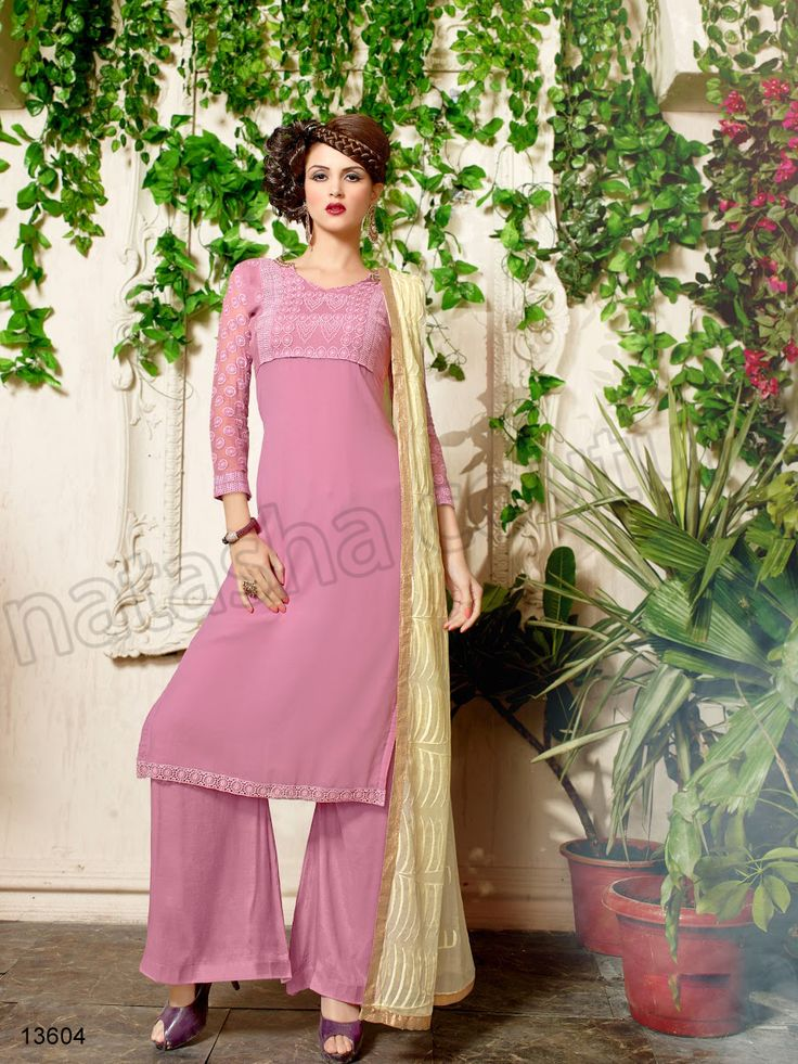 #Designer Stright Suits#Pakistani Suit#Indian Wear#Pink #Desi Fashion #Natasha Couture#Indian Ethnic Wear# Salwar Kameez#Indian Suit#Pakastani Suits# Palazoo