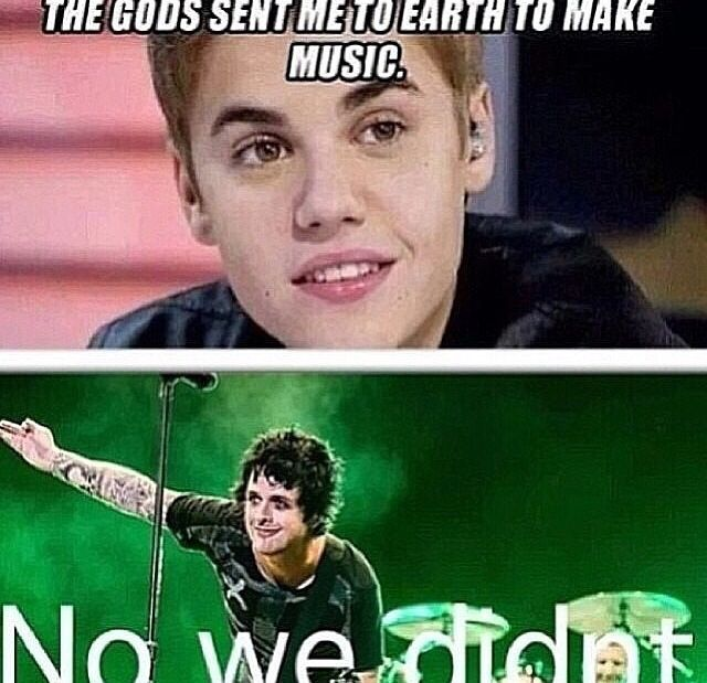 No they didn't Green Day are the gods AND I GET TO SEE THEM CLEARLY IM GOING TO HEAVEN!!!!!! XD