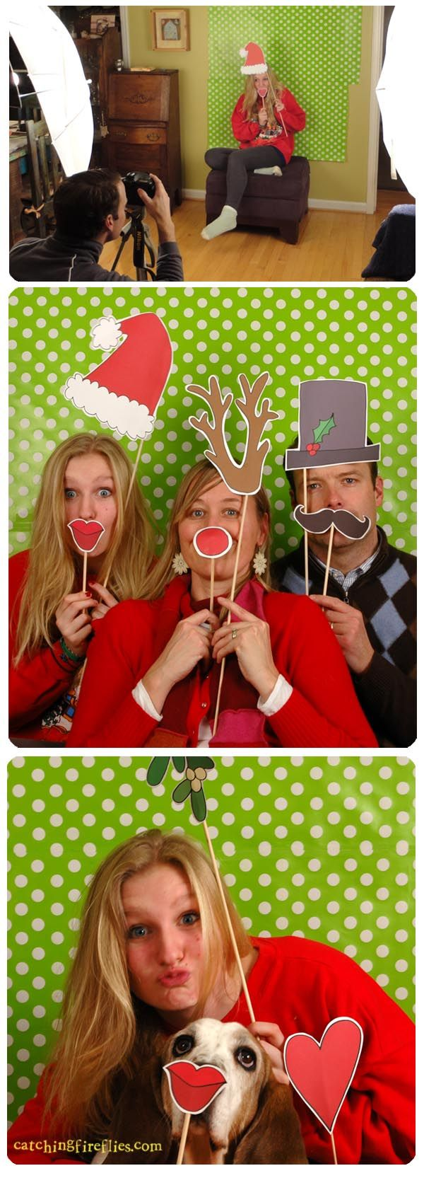 super cute Christmas photo booth props to print! @Kelly Teske Goldsworthy Teske Goldsworthy Patronas