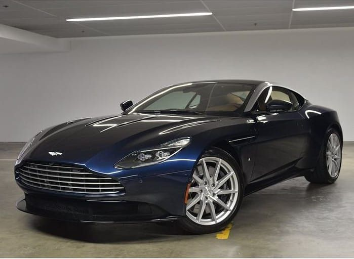 Available This Week Is A 2018 Db11 V12 In Midnight Blue Exterior With Kestrel Tan Interior Don T Miss Your Chance To Aston Martin Automotive Design Sports Car