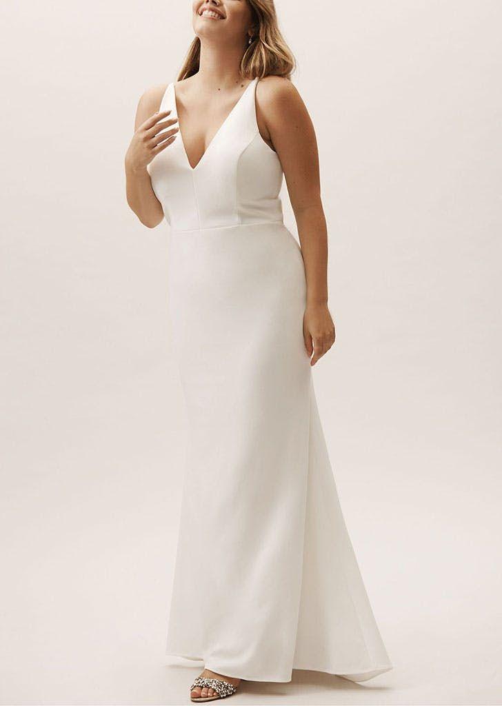 fb0646879c 15 Wedding Dresses Under $500 (That Look Like a Million Bucks) #purewow  #wedding #dress #shopping