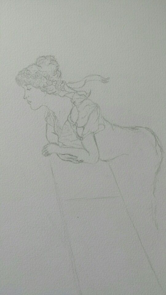 Denise Michelle Pol, After ' A Coign of Vantage' by Lawrence Alma Tadema,  2010, pencil on paper.