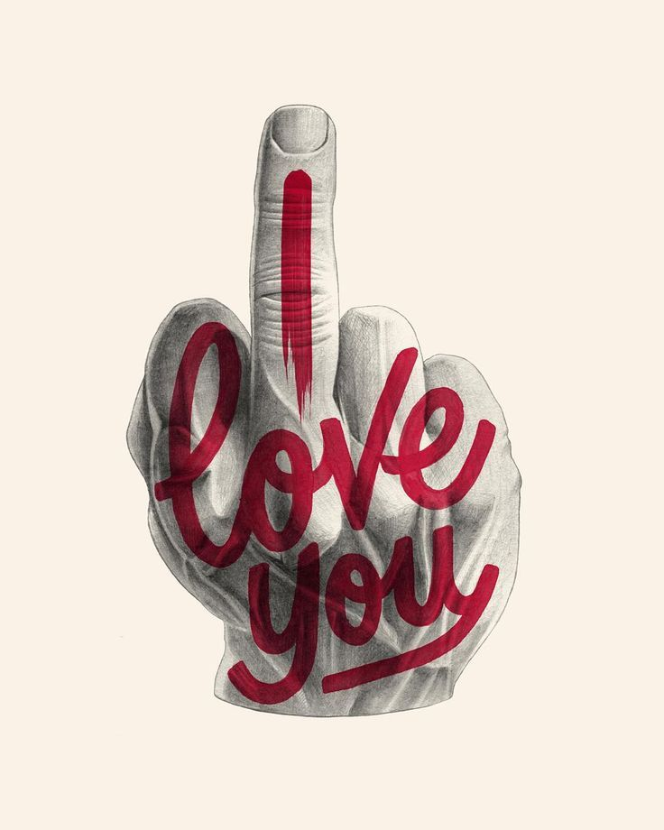 ~ Typography I love you ~ by Alexis Taieb aka Tyrsa