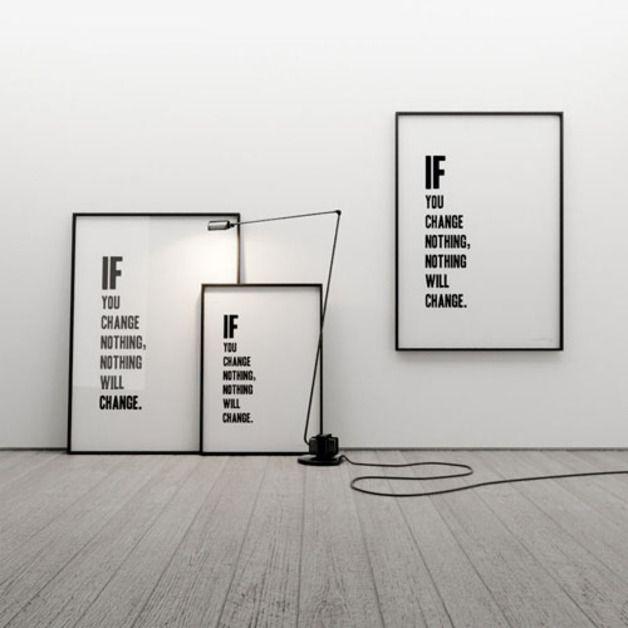 IF YOU CHANGE NOTHING 50x70 - MINIMALLIVING - Plakaty typograficzne