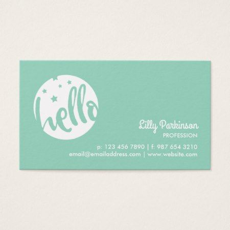 375 best business cards you can buy online images on pinterest green white stars hello business card reheart Gallery