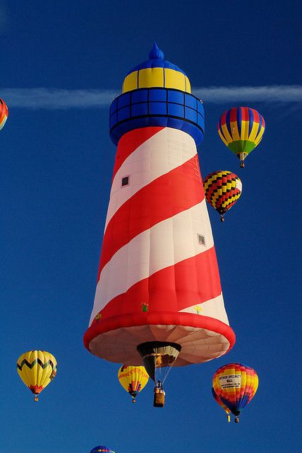 #Lighthouse Hot Air #Balloon http://www.roanokemyhomesweethome.com