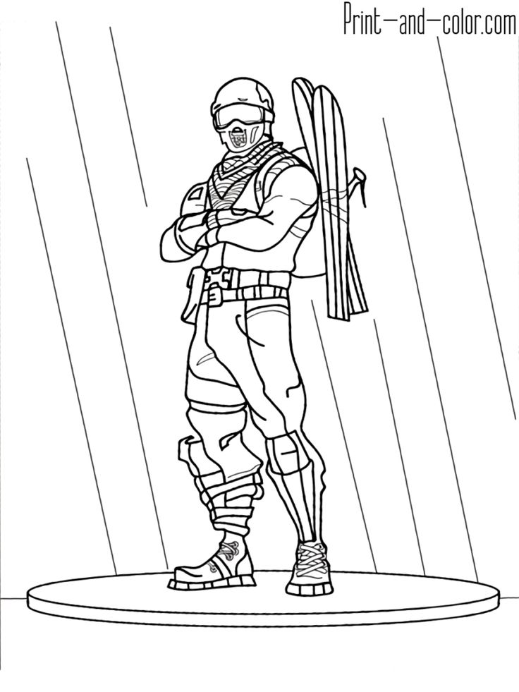 Fortnite coloring pages Print and Fortnite