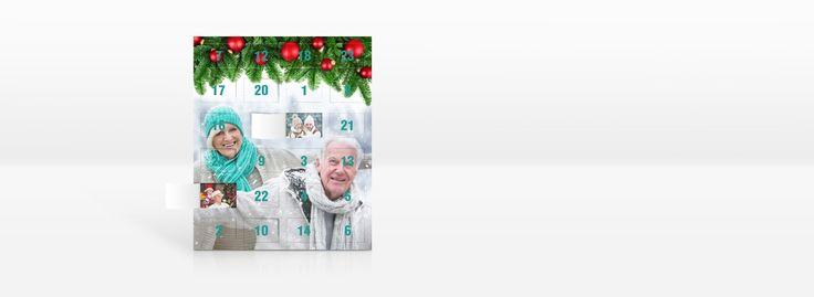 Adventskalender mit Foto selbst gestalten - individuelle Foto-Adventkalender bei fotoCharly selbst gestalten und online bestellen.