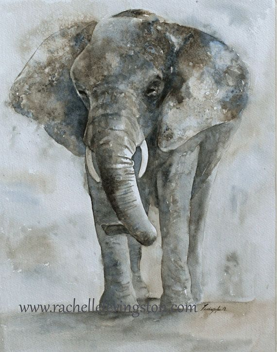 painting of elephant watercolor