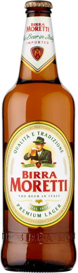 Birra Moretti Lager - makes pizza easier to swallow ! :D