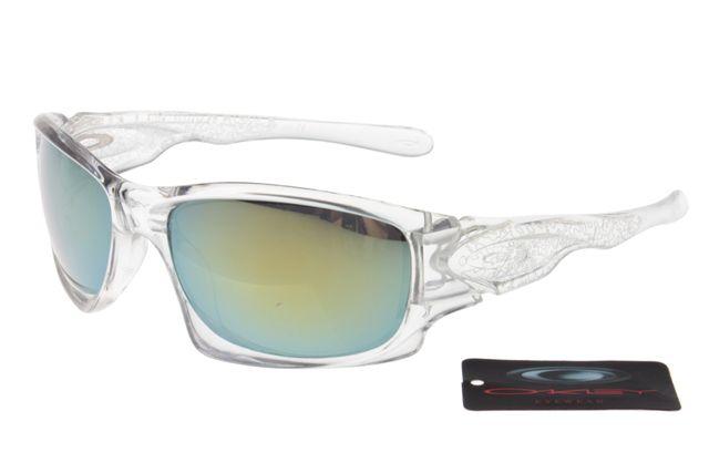 Oakley Crankcase Sunglasses White Frame Colorful Lens 0157