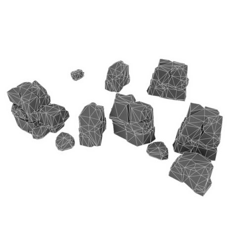 Low Poly Rock Formation Bundle