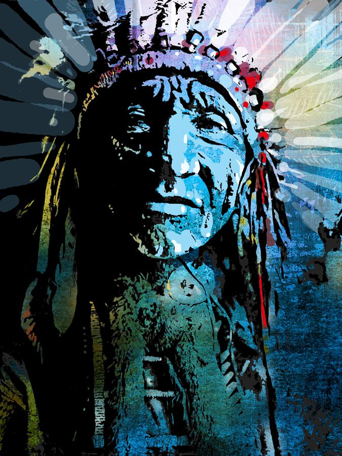 indian headdress art - Google Search