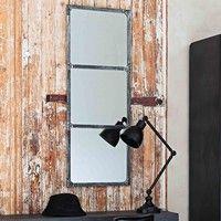 Specchio nero stile industriale in metallo effetto anticato H 72 cm TITOUAN | Maisons du Monde