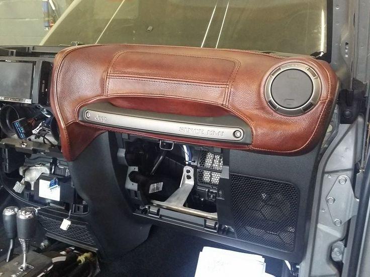 Custom Jeep Wrangler interior seats, dashboard, center console. | Krazy House Customs