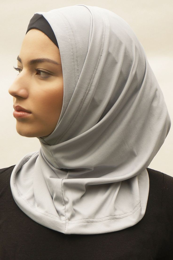 Active Hijab 2 0 Gray In 2021 Workout Outfit Hijabi Workout Outfits Sports Hijab