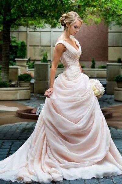 Blush wedding dress                                                                                                                                                                                 More