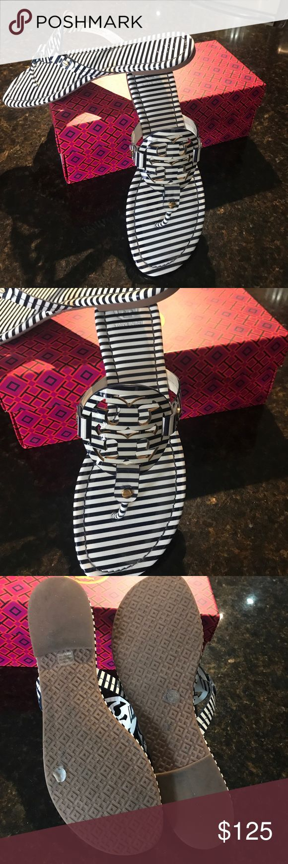 Miller sandals tory burch 👡👡 Miller Tory nautical sandal size 10 Tory Burch Shoes Sandals