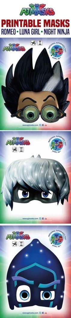Printables - PJ Masks Night Ninja, Romeo, Luna | All Mommy Wants