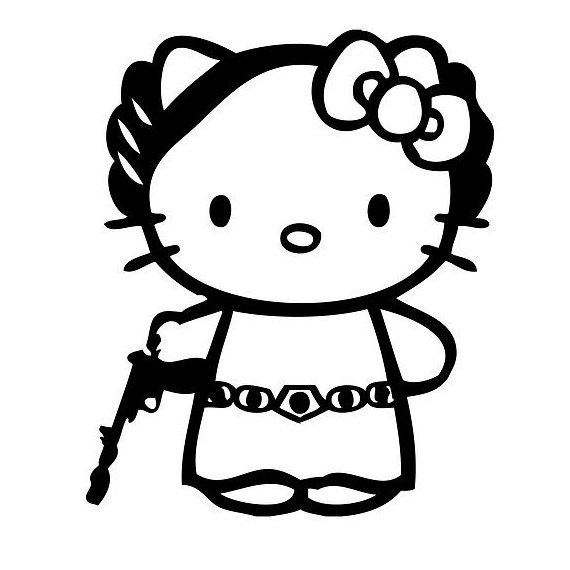 Best Hello Kitty Images On Pinterest - Hello kitty custom vinyl decals for car