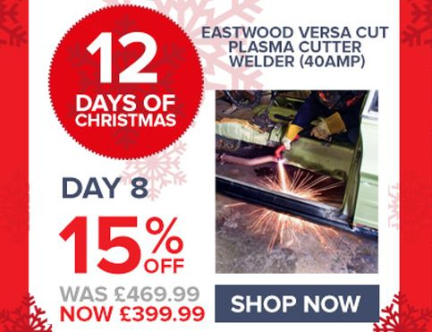 TODAY SALE: Get 15% OFF on Eastwood Versa Cut Plasma Cutter Welder (40amp). it is a portable, affordable & easy-to-use DIY power tool.
