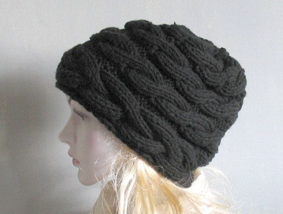 Women Hat  Hand Knit Hat  Slouchy Hat  Oversized Hat