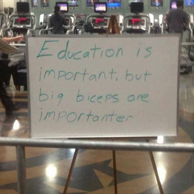 funny sign at the gym