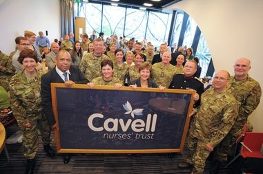 Cavell Flag Returns from Afghanistan - Latest news | Cavell Nurses' Trust