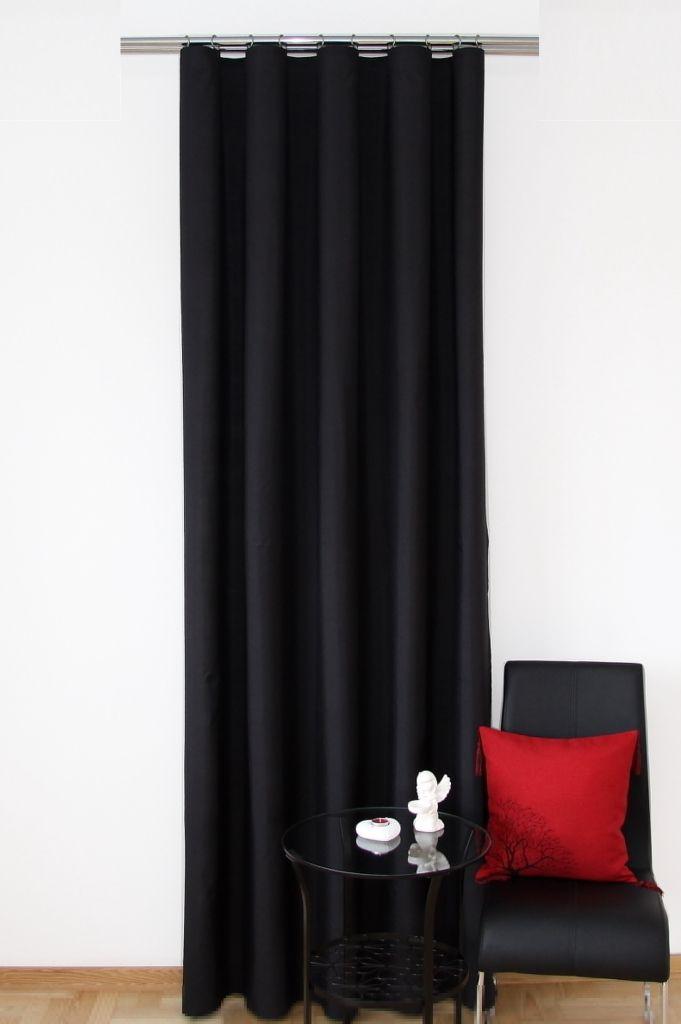 Gotowa zasłona w kolorze czarnym