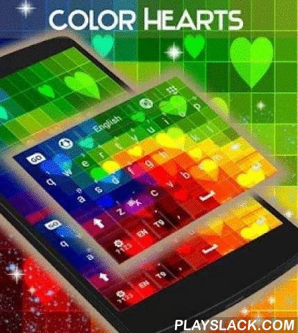 """Color Hearts Keyboard  Android App - playslack.com ,  We hebben iets nieuw voor degenen onder u die graag het bijwerken van uw smartphone scherm : KLEUR HEARTS TOETSENBORD ! DOWNLOAD Color Hearts Keyboard NU en laat de kleurrijke harten ontwerp is uw smartphone eruit ziet als een romantische en funky regenboog !- Om te installeren, volg de 3 eenvoudige stappen: Openen na downloaden , drukt u op """"Instellen als Active Theme"""" en selecteer het thema van de volgende pagina !- De HD screenshots…"""