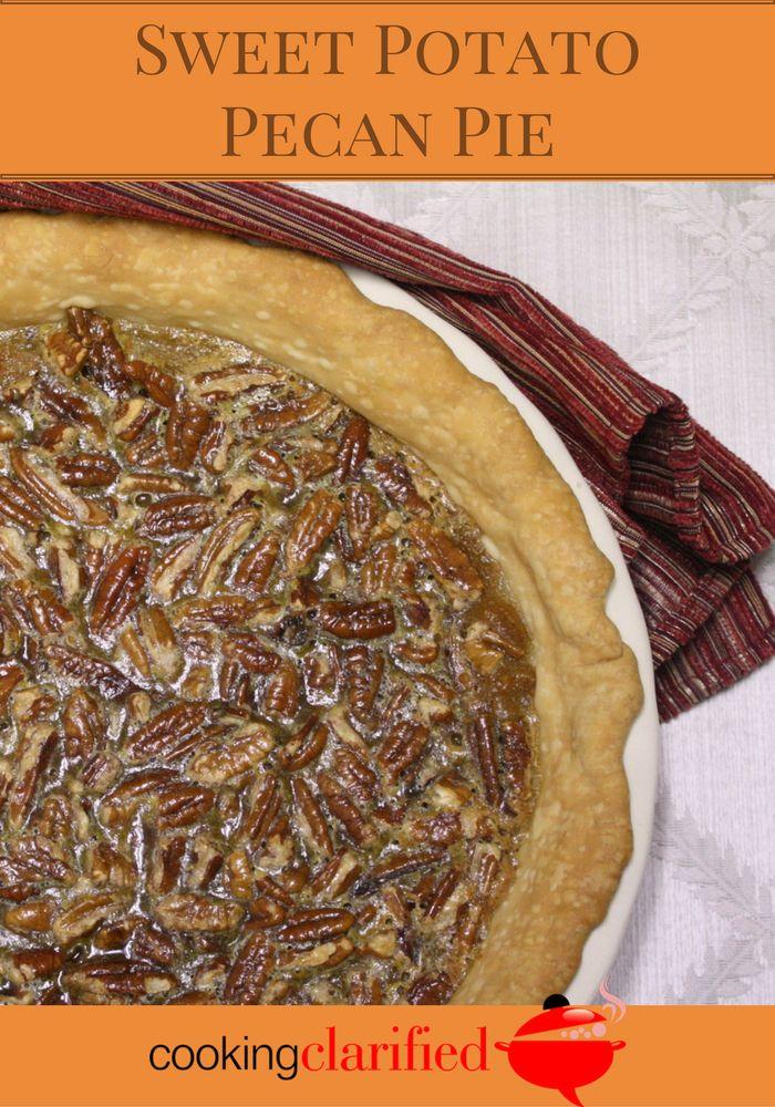 Sweet potato pecan pie is a delicious mash up of sweet potato and pecan pie!