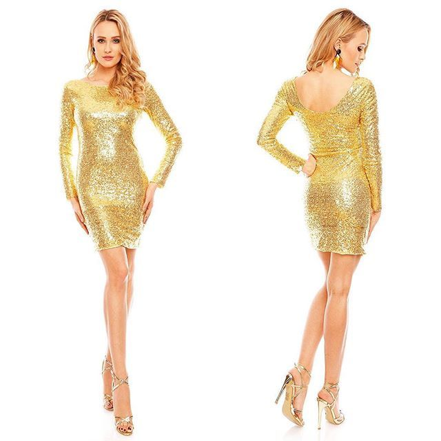 Rochie din Paiete Maia Gold Pret: 169.00 Lei #dress #fashion #style #love #instagood #girl #beauty #beautiful #model #hair #shoes #cute #shopping #outfit #pretty #photooftheday #stylish #girls #ootd #me #styles #pink #heels #rochii2018