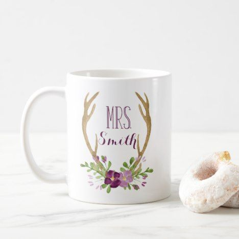 Personalized Mrs. Boho Mug #coffee #mug #mugs #muglove #coffeetime #coffeemug #gifts #style #tea