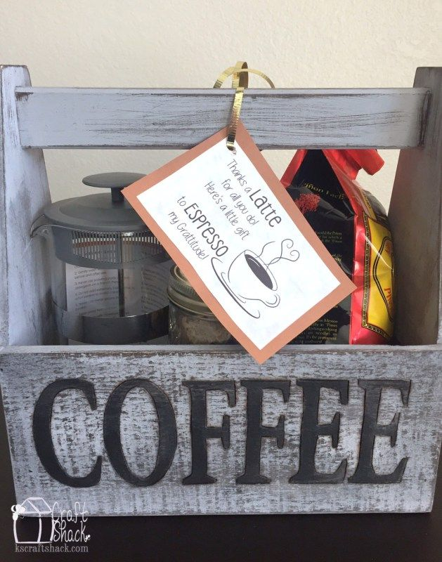 Teacher appreciation thanks a latte coffee lover gift