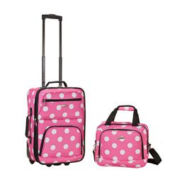Rockland Expandable Pink Dot 2-piece Lightweight Carry-on Luggage Set - Overstock™ Shopping - Great Deals on Rockland Two-piece Sets